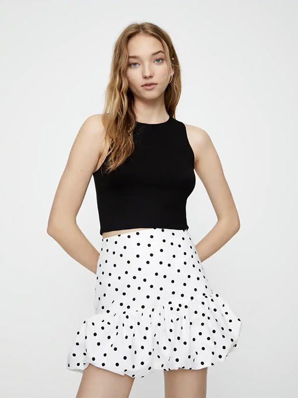 Minifalda con corte globo de Pull & Bear