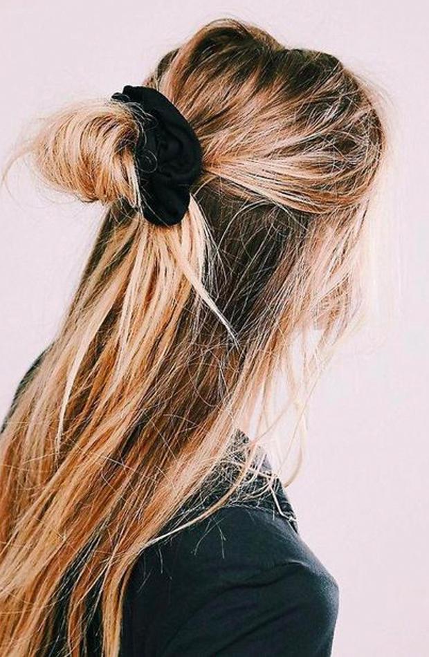 peinados fáciles para casa Media coleta