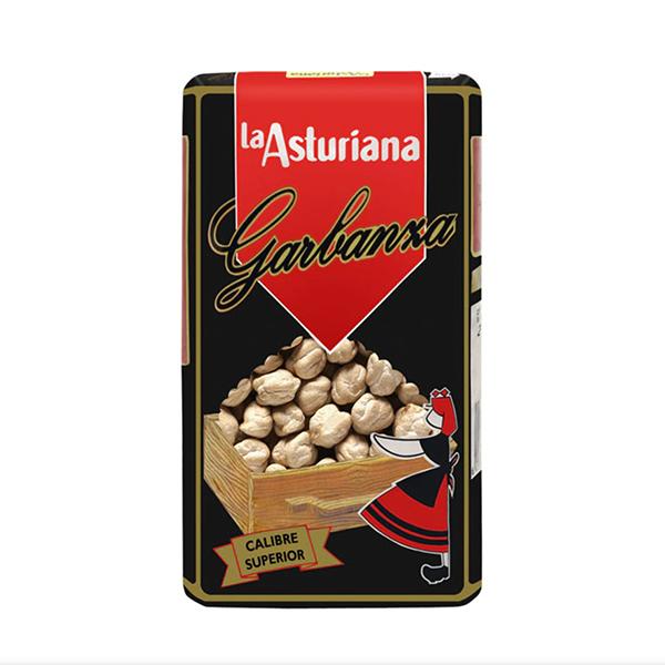 potage de garbanzos y espinacas la asturiana garbanzo superior paquete 500