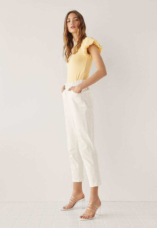 Pantalón con cintura elástica de Bershka