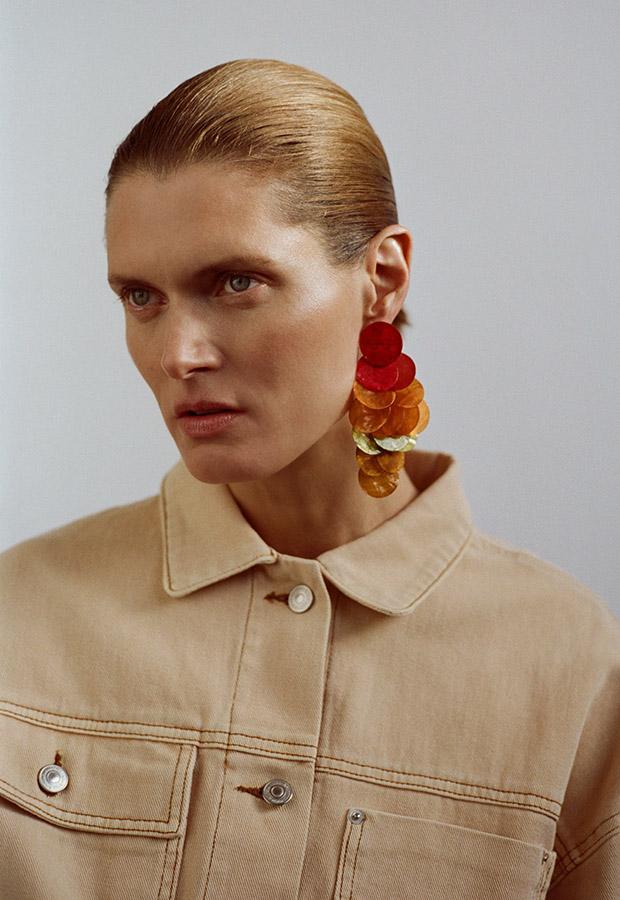 Pendientes multicolor de Zara