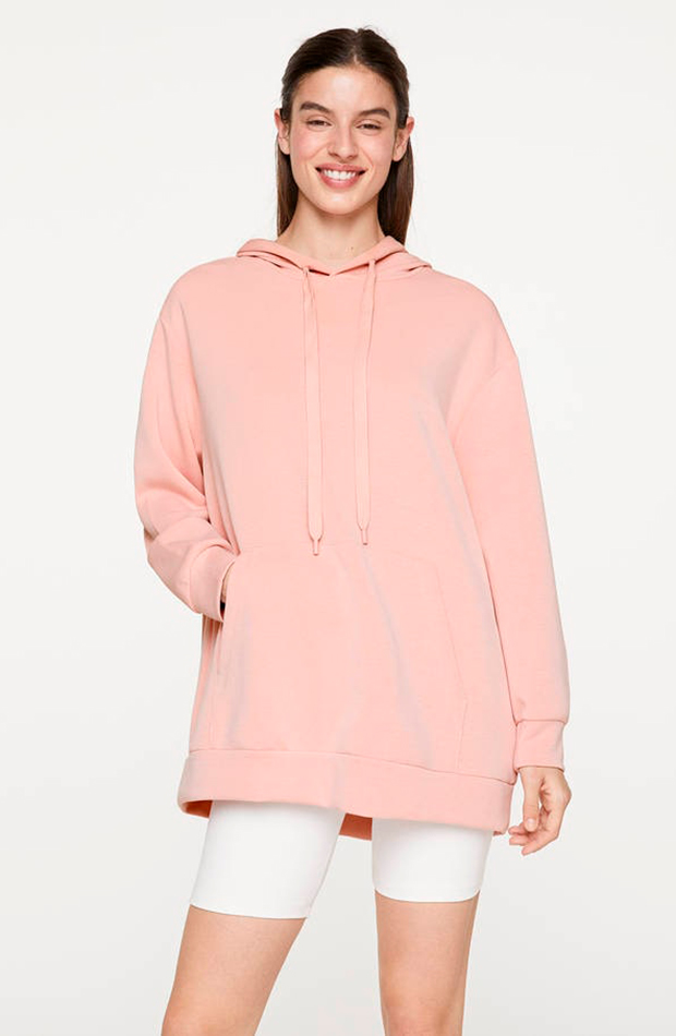 sudadera rosa pastel oysho prendas cómodas