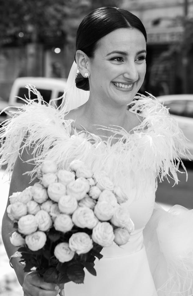 tendencias para novias plumas conchita liz atelier
