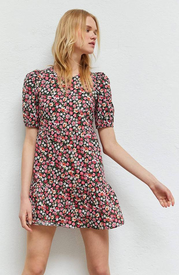 vestido estampado flores stradivarius prendas cómodas