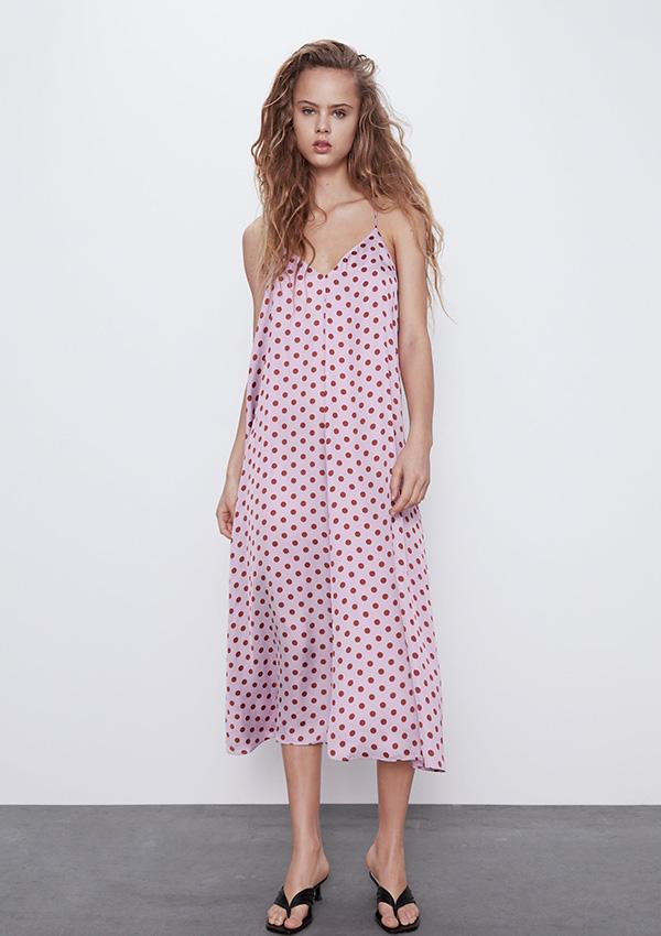 Vestido lencero de Zara