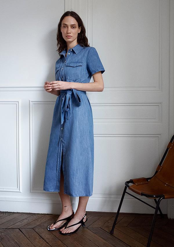 Vestido de Zara denim