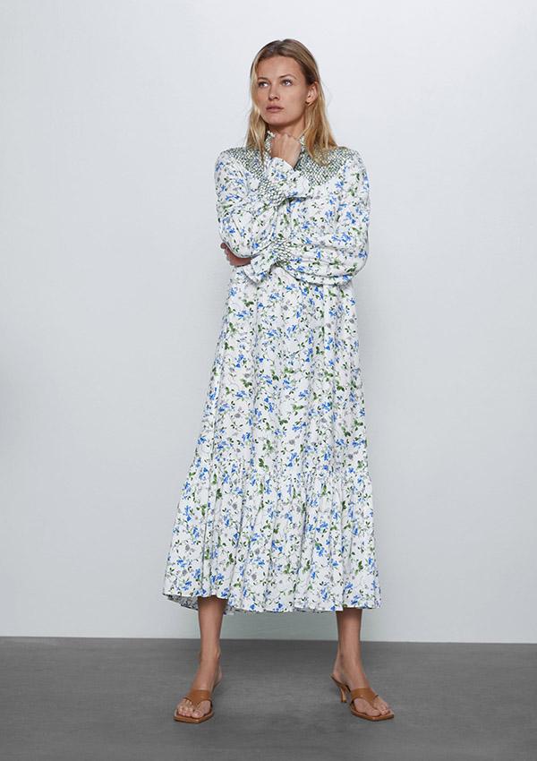 Vestido de Zara largo de flores