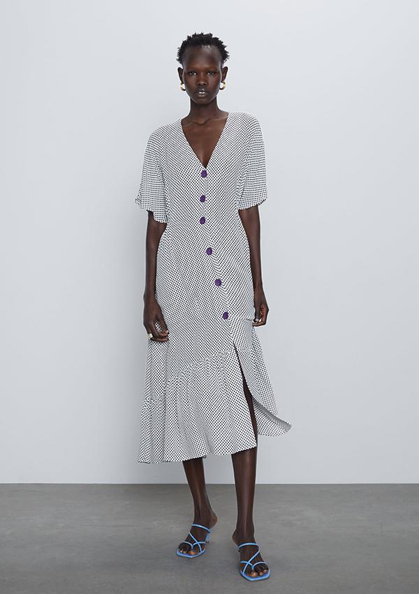 Vestido de Zara de lunares