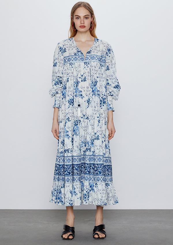 Vestido de Zara largo estampado
