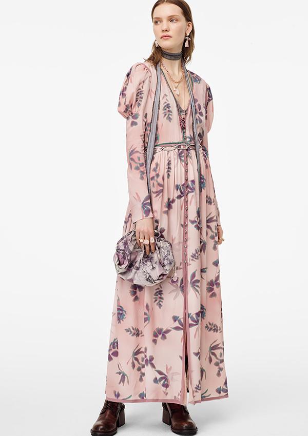 Vestido de Zara de flores de Limited Edition