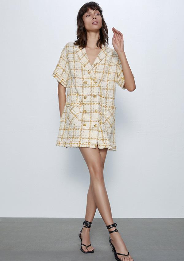 Vestido de Zara de tweed