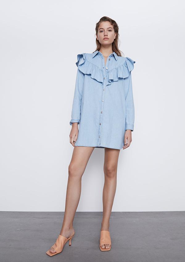 Vestido de Zara con volantes