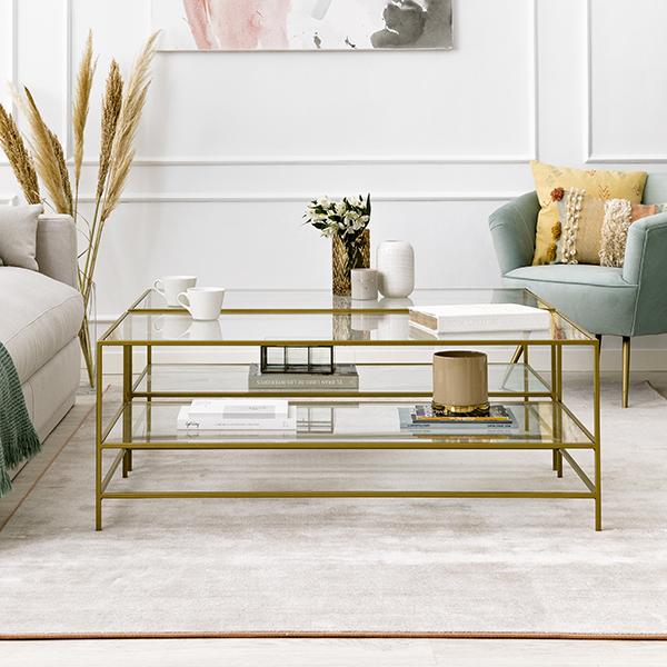 Mesa con estructura dorada Gold de Kenay Home