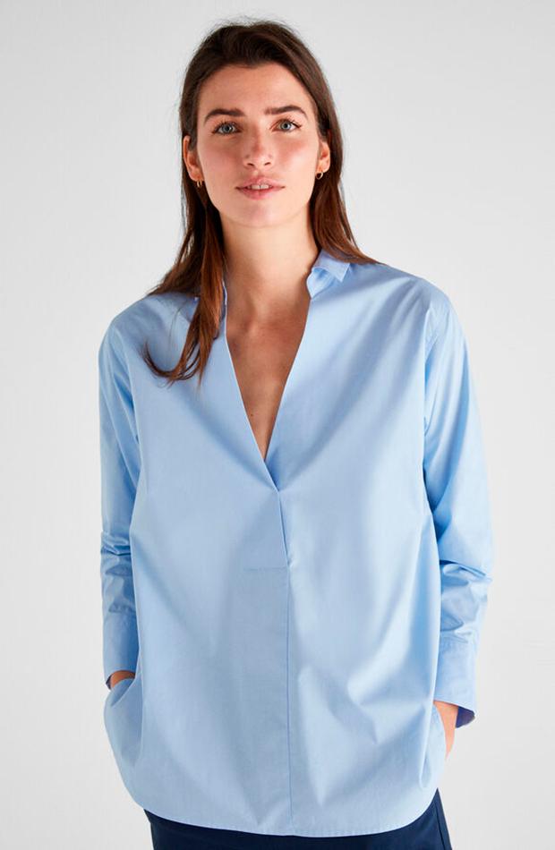 camisas para verano azul de Cortefiel