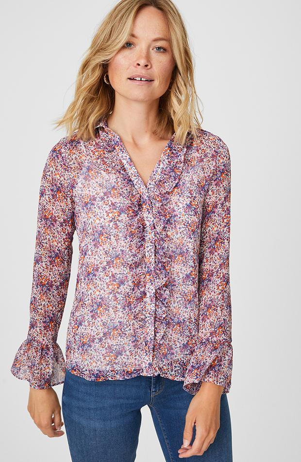 camisas para verano con estampado de flores de C&A