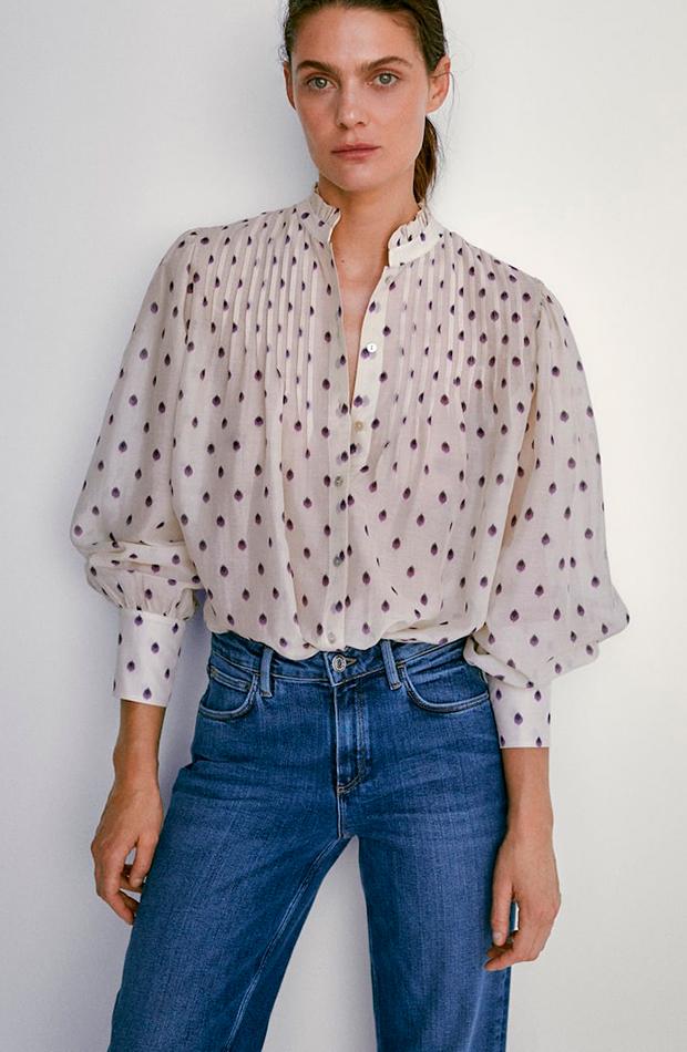 Camisa de topos de Massimo Dutti