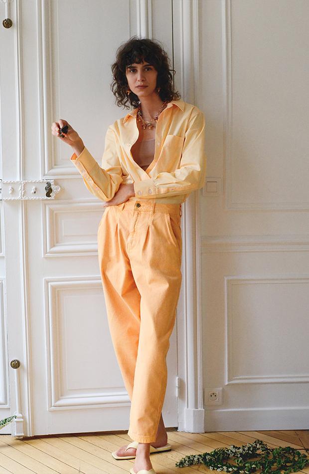 Conjunto naranja de Zara