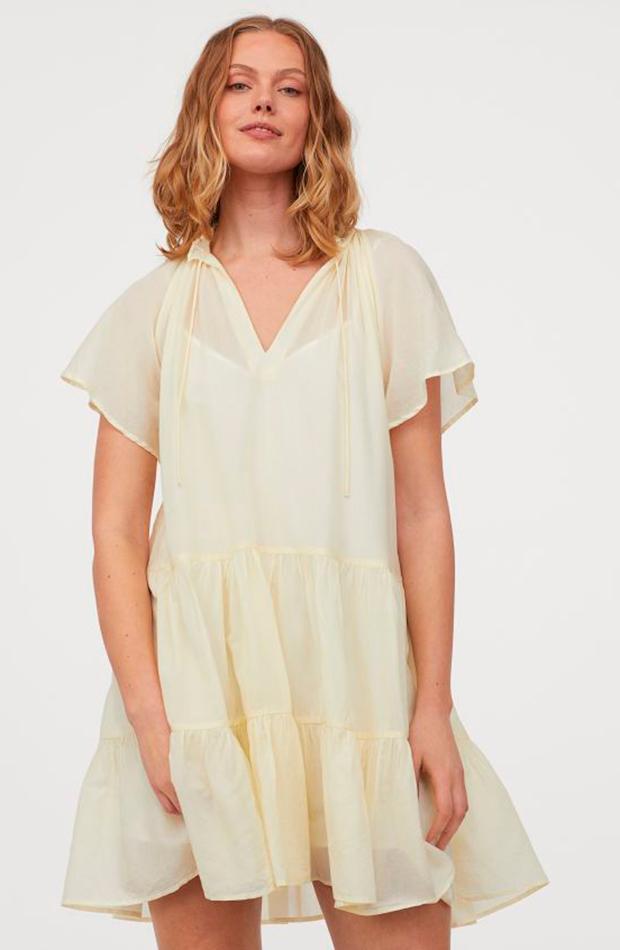 colores pastel Vestido amarillo de H&M