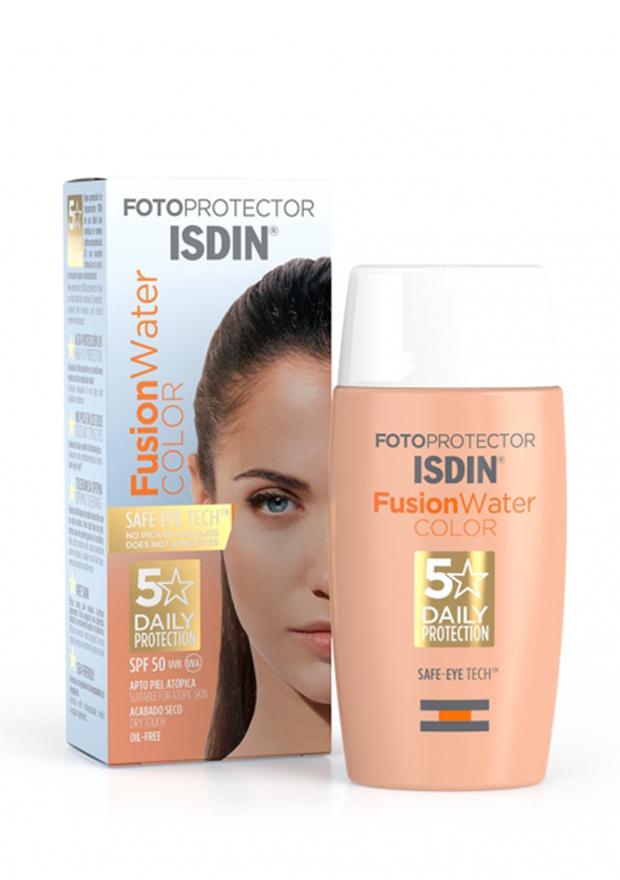 Solar facial Isdin Fusion Color Water
