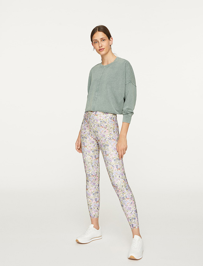 Leggings estampados de Oysho con flores Liberty