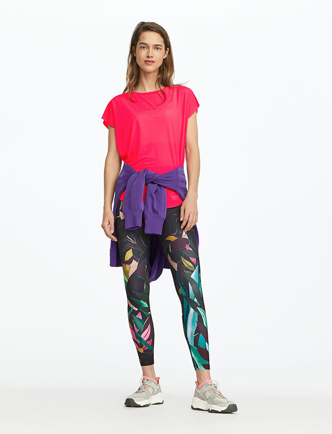 Leggings de estampado multicolor de Oysho