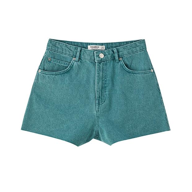 Shorts en verde azulado de Pull&Bear