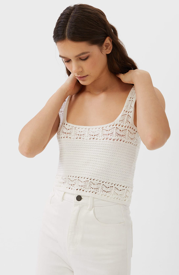 Top de crochet de stradivarius
