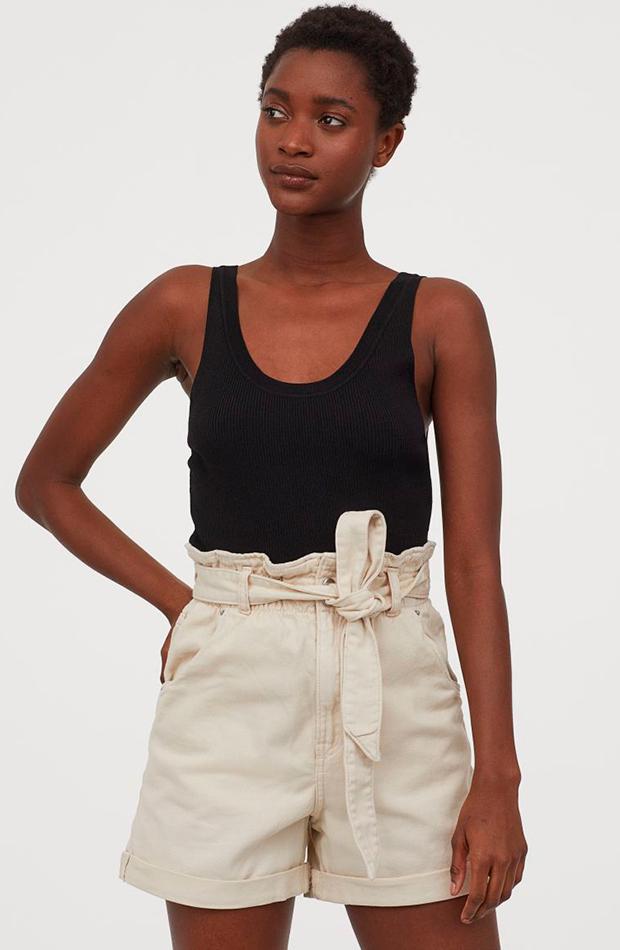novedades de H&M Pantalón corto beige