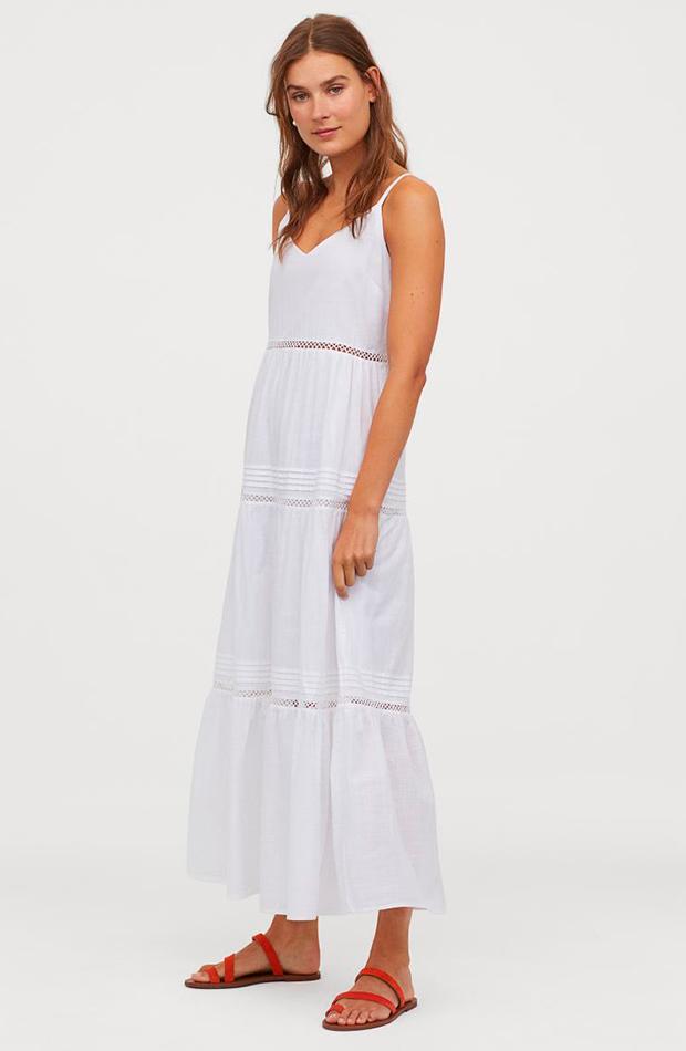 Vestido blanco de tirantes
