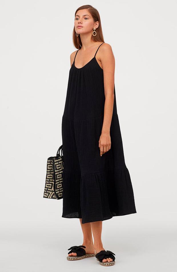Vestido negro de tirantes novedades de H&M