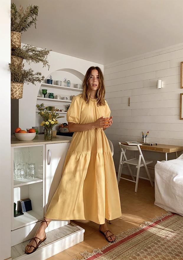Vestido amarillo de Mango