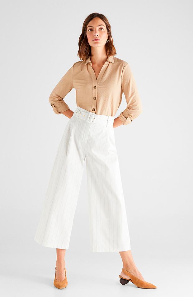 Pantalón de rayas de Cortefiel