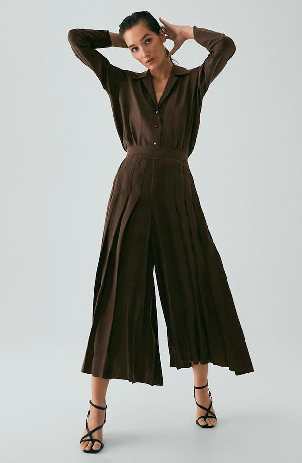 pantalones para verano Pantalón plisado de Massimo Dutti