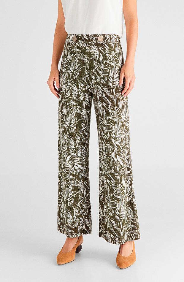 pantalones para verano Culotte estampado de Cortefiel