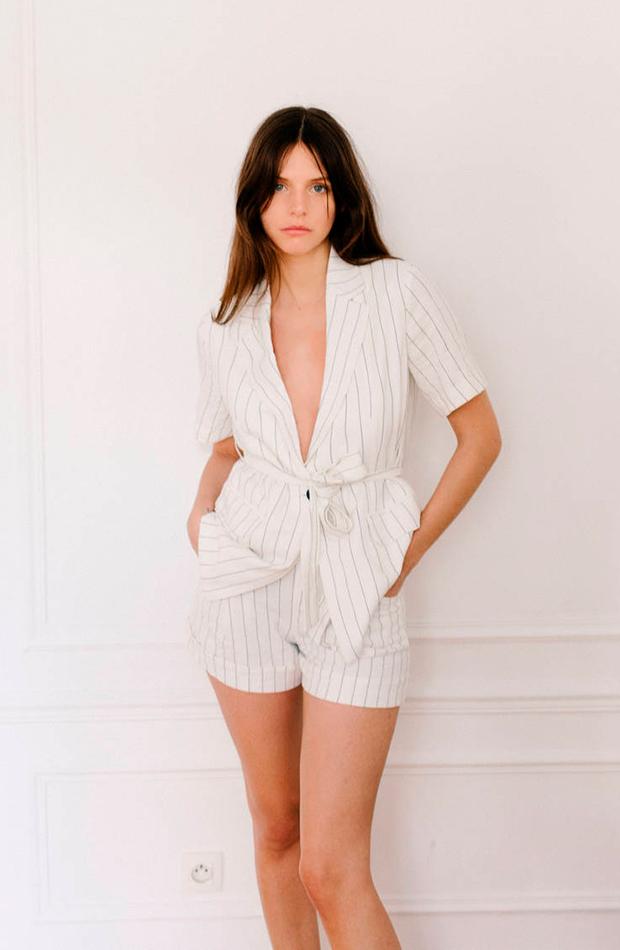 pantalones para verano Short de rayas de Bershka
