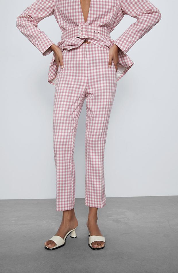 pantalones para verano Pantalones de cuadros vichy de Zara