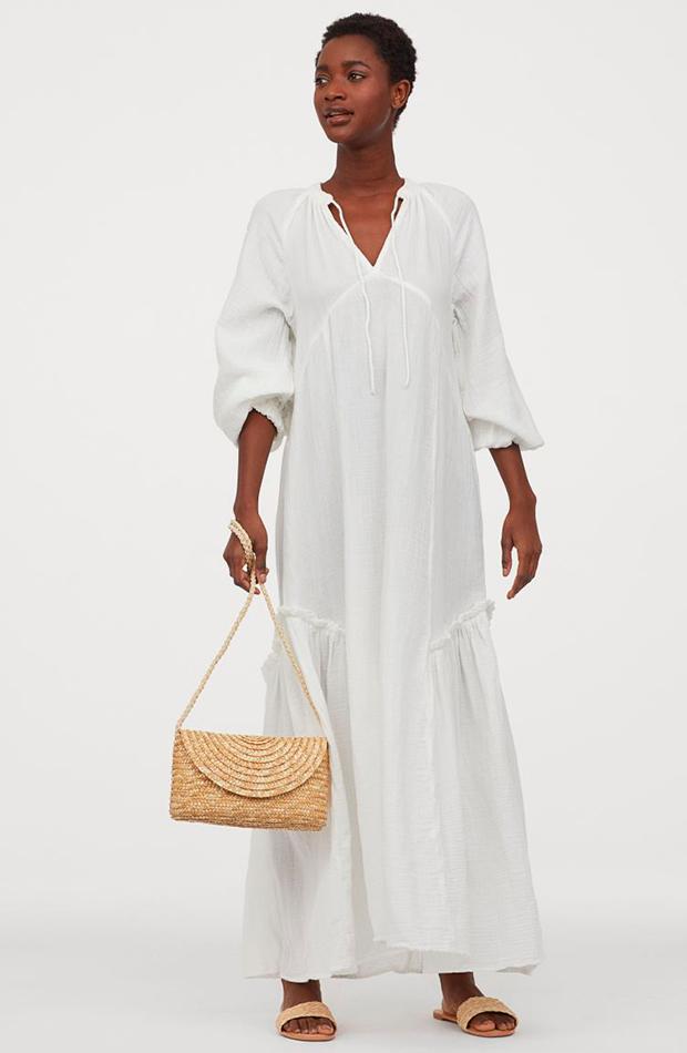 Vestido blanco de H&M verano 2020