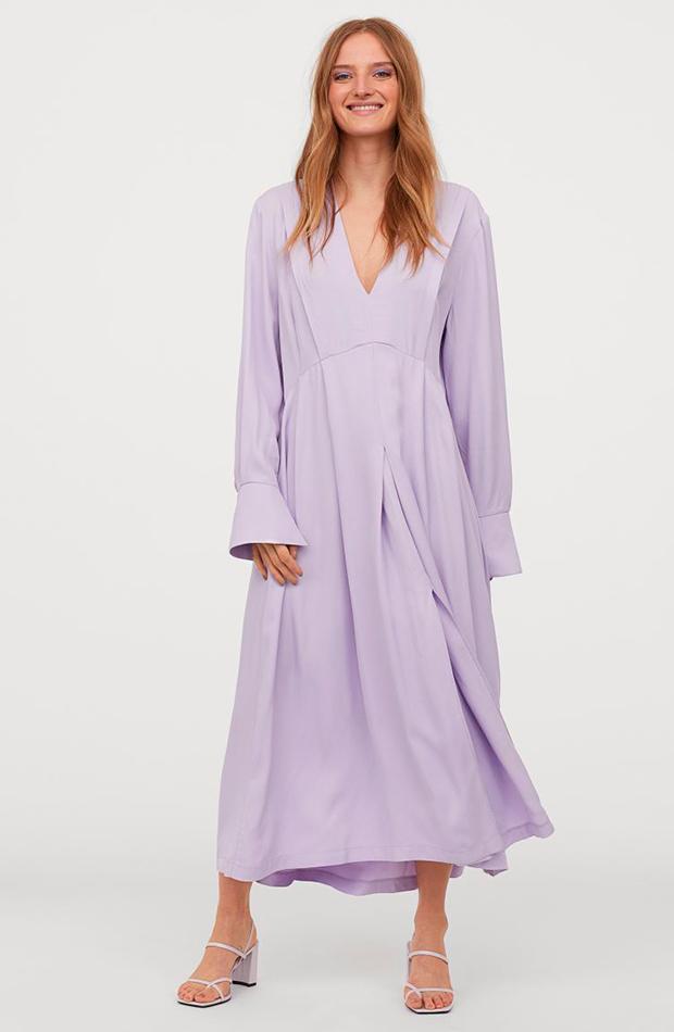 vestidos largos Vestido lila de H&M colores pastel