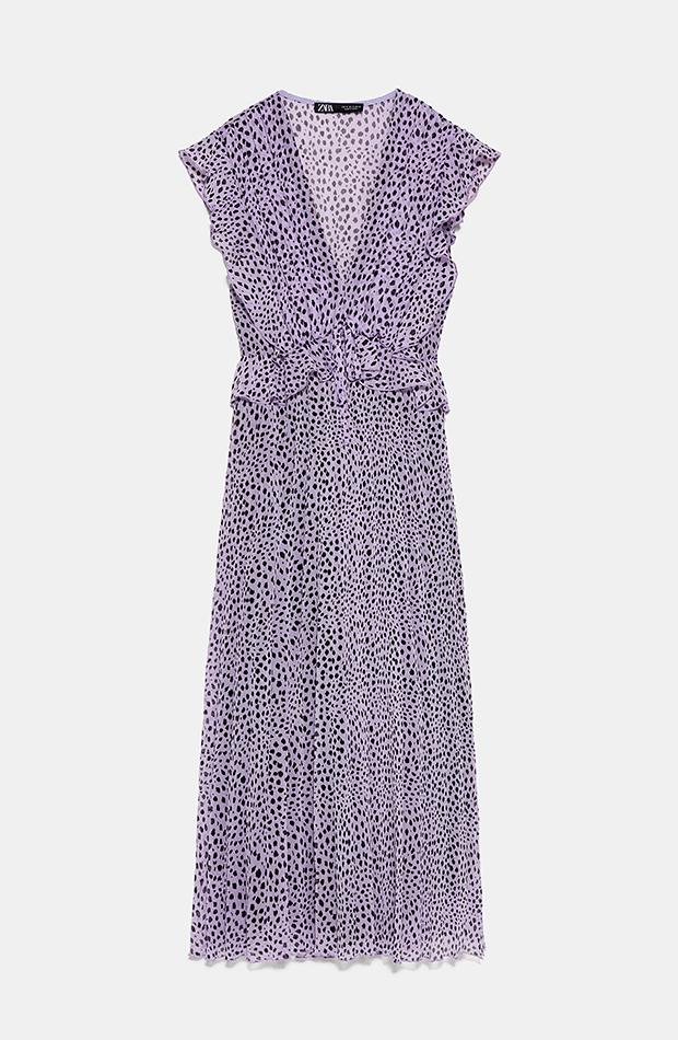 vestidos largos Vestido lila de Zara