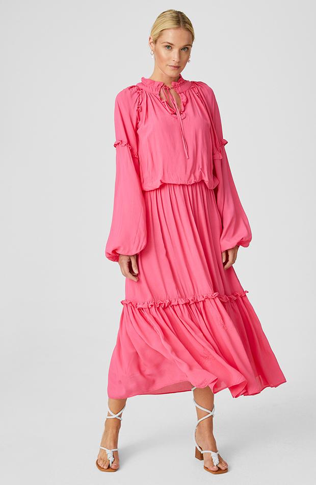 vestidos largos Vestido color rosa de C&A