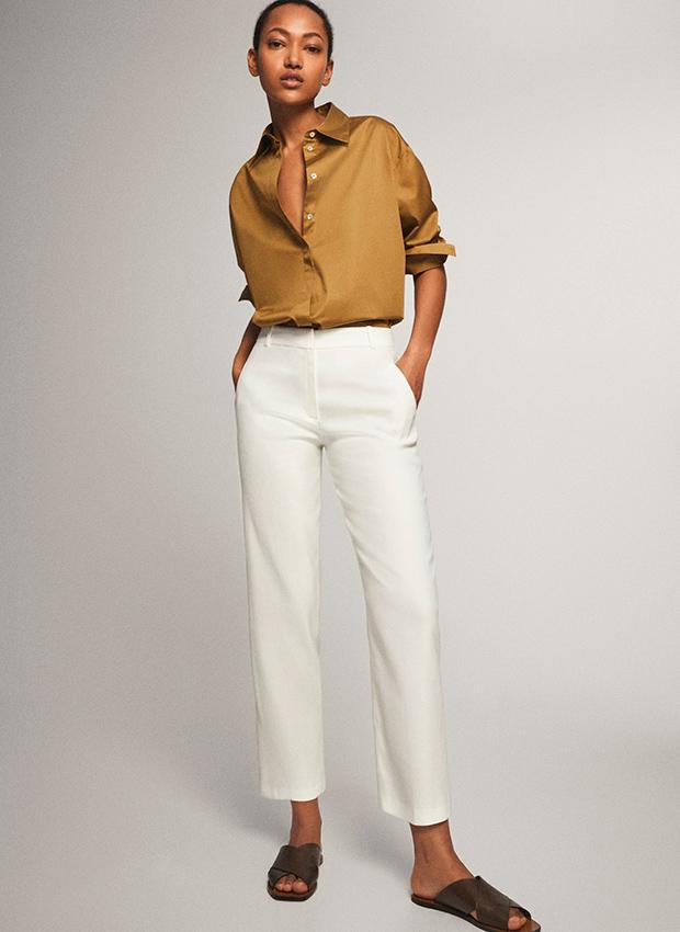 Pantalones blancos Rebajas Massimo Dutti