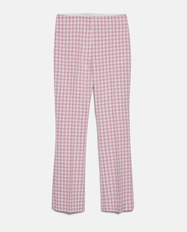 Pantalones de Zara con estampado de cuadros vichy