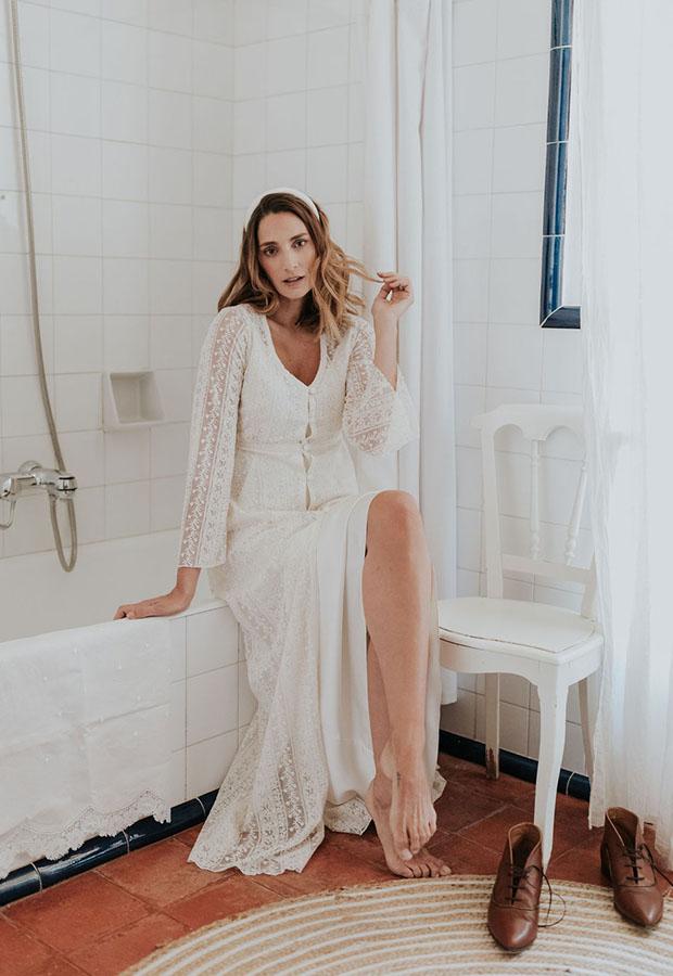 Vestido de novia sencillo de Confesiones de una boda