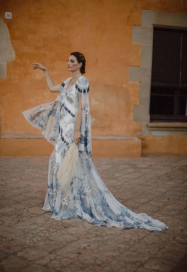 Vestido de novia azul de Confesiones de una boda