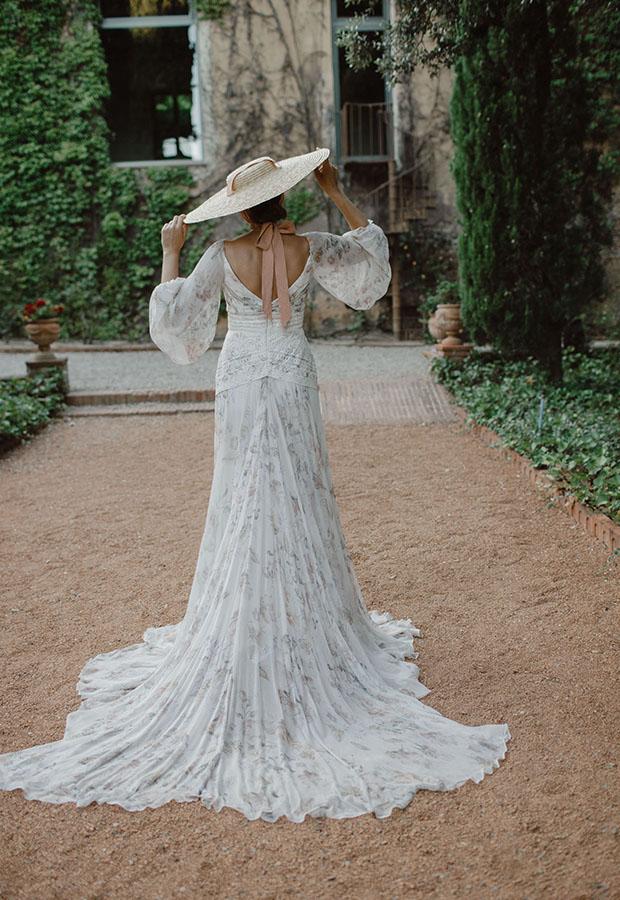 Vestido de novia con estampado de Confesiones de una boda