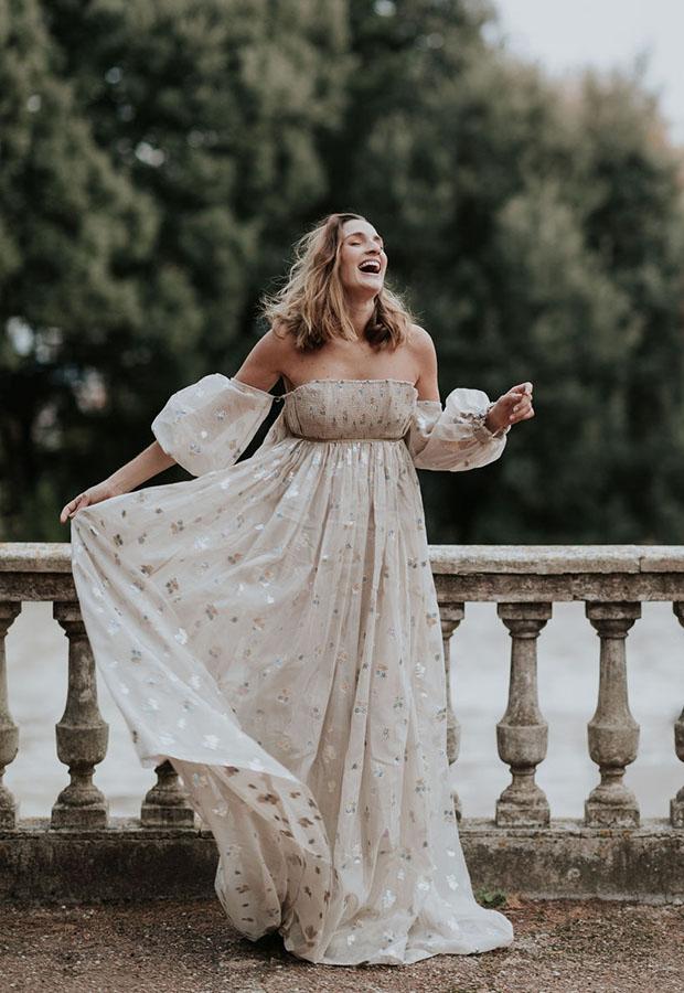 Vestido de novia vaporoso de Confesiones de una boda