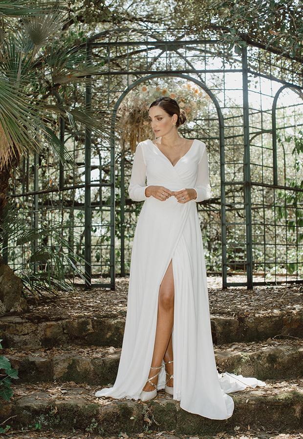 Vestido de novia minimal de Confesiones de una boda