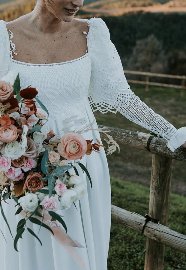 Vestido de novia con detalles de Confesiones de una boda