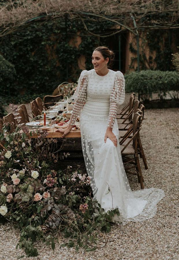 Vestido de novia con mangas de Confesiones de una boda