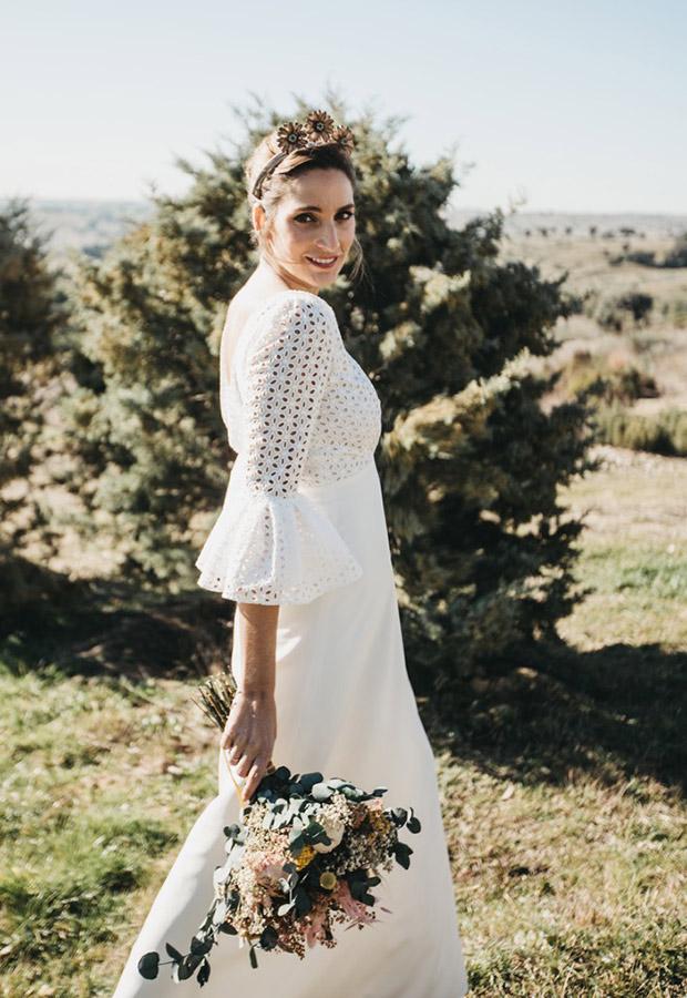 Vestido de novia con encaje de Confesiones de una boda